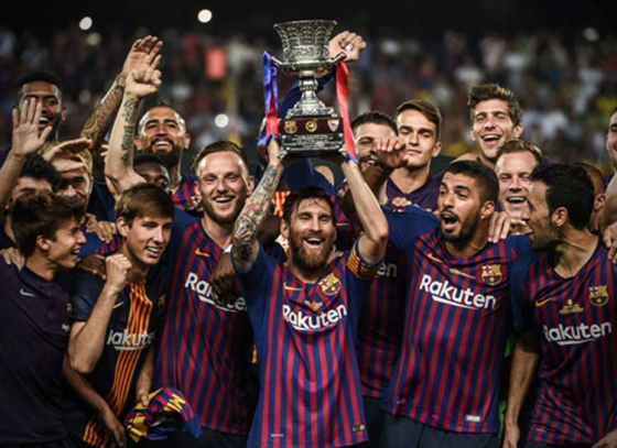 Barcelona lift Spanish Super Cup in Tangier