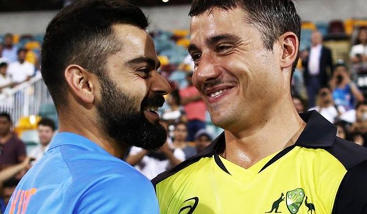 Michelle Johnsocomes up with hilarious caption about Stoinis and Kohli`s picture