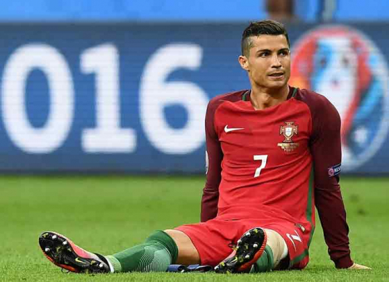 CR7 Suffers Thigh Injury As Portugal Settles For Draw