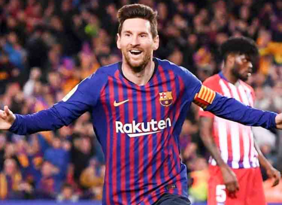 Messi Ends at Top for 3rd Time