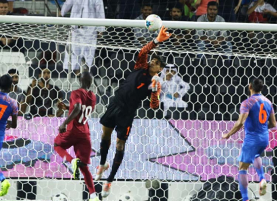 Qatar Restricted by India's-Wall Sandhu