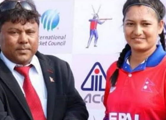 Nepal girl rocked in T20I by her bowling skills