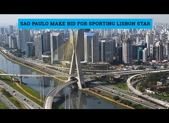 Sao Paulo make bid for Sporting Lisbon star