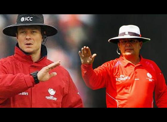 Umpires Kettleborough, Gould to officiate India-Windies semis tie