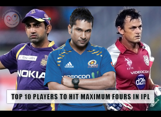 Top 10 Players to Hit Maximum Fours in IPL