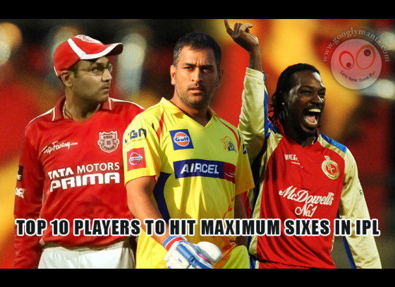 Top 10 Players to Hit Maximum Sixes in IPL