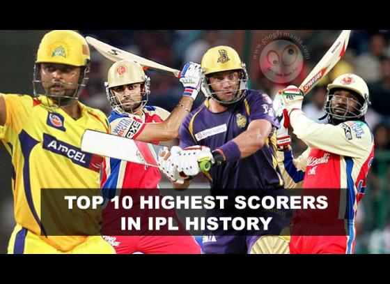 Top 10 Leading Scorers in IPL history