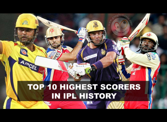 Top 10 Leading Scorers in IPL history