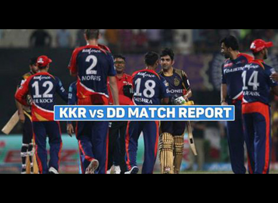KKR overwhelm Delhi Daredevils by 9 wickets